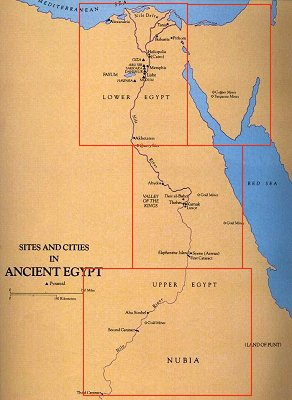 Late Predynastic - Map of egypt upper and lower